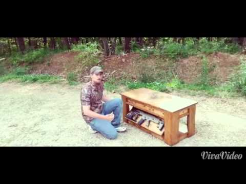 Hidden Compartment Buckshot Coffee Table Youtube