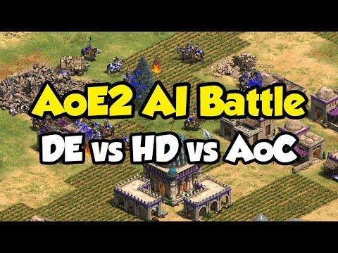 AoE2 AI Battle! Definitive Edition vs HD vs AoC