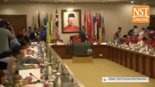Umno president Najib Razak arrives for supreme council meeting