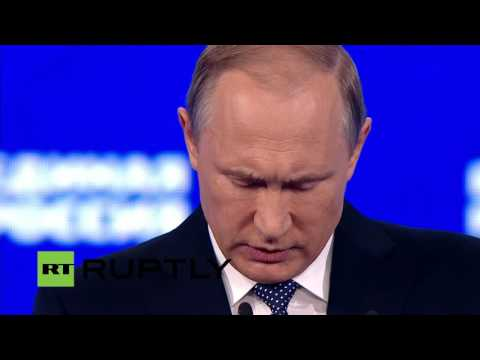 LIVE: Putin participates in United Russia Congress in Moscow