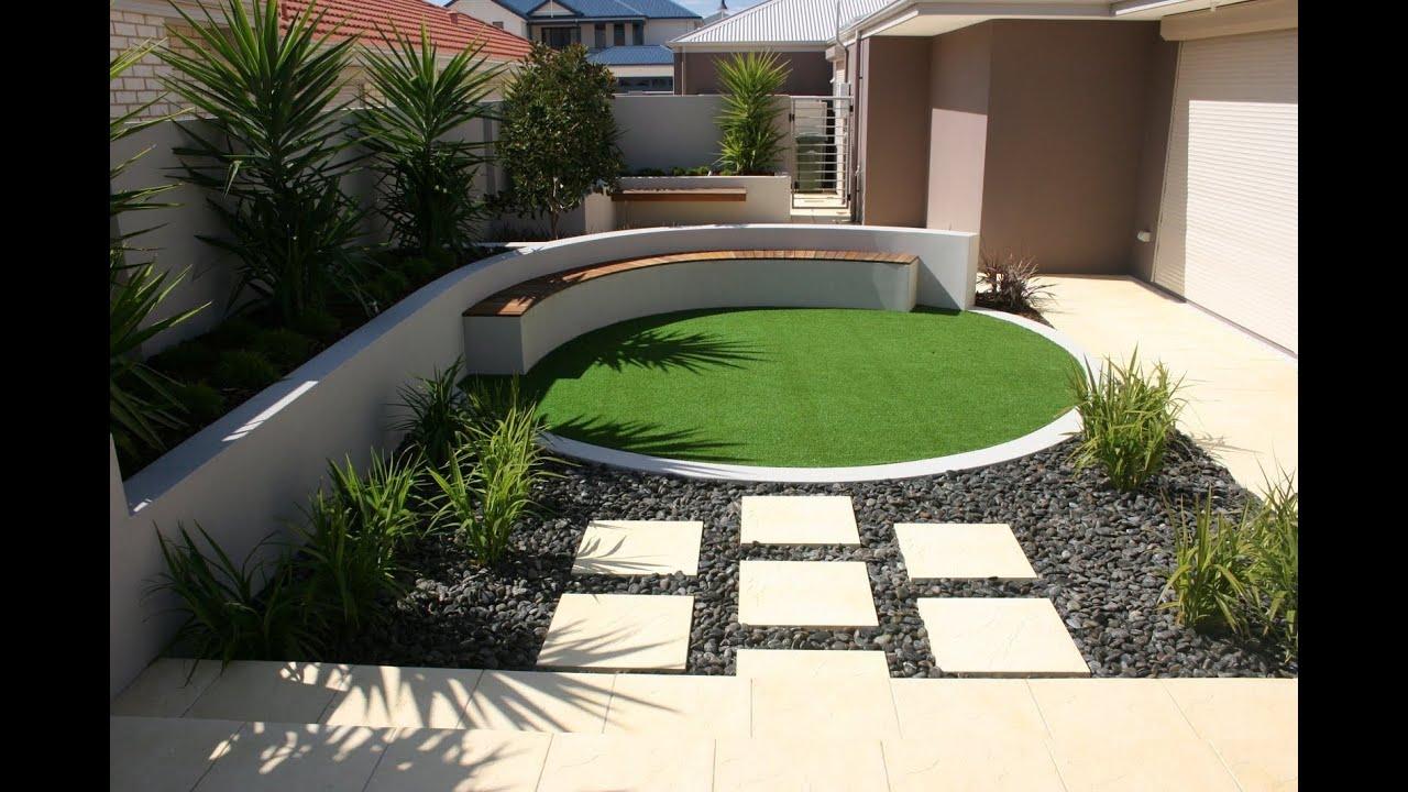 Modern Small Garden Design Ideas - YouTube