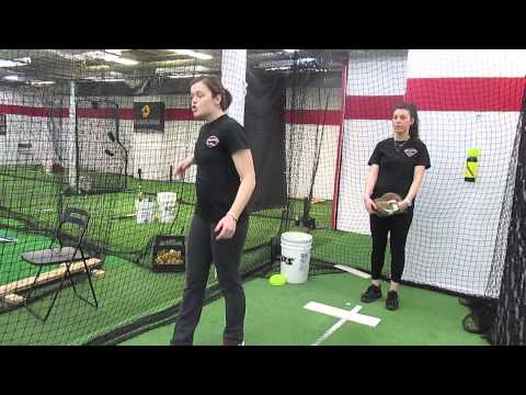 SOFTBALL PITCHING DRILL FOR POWER:DIAMOND ACADEMY NJ COACH LISA RIZZO  SOFTBALL NJ