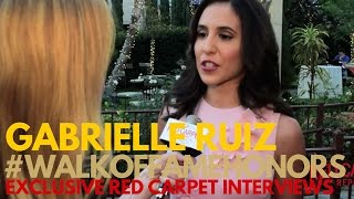 Gabrielle Ruiz #CrazyExGirlfriend interviewed at the Hollywood Walk of Fame Honors