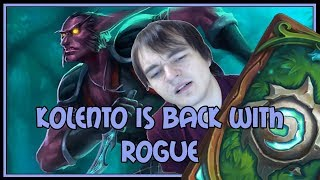 Kolento is back with rogue | Miracle rogue | The Witchwood | Hearthstone