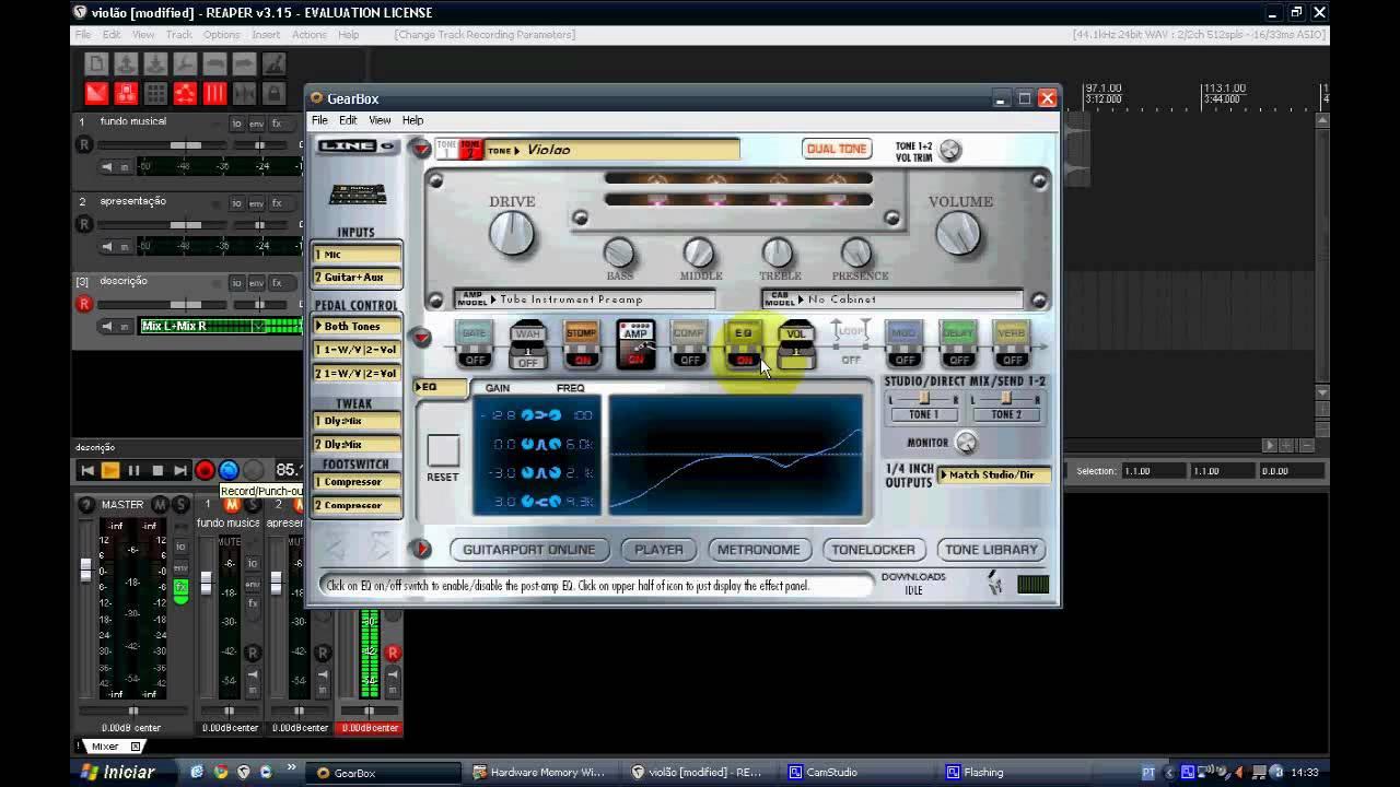 POD X3 's Acoustic Simulator Patch by Alex Machado