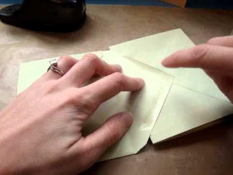 Papercraft StarEnvelope Mini Album TutorialYouTube