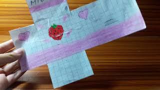 Hướng dẫn làm squishy giấy hộp sữa dâu mini