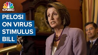 Watch CNBC's full interview with House speaker Nancy Pelosi on coronavirus stimulus bill