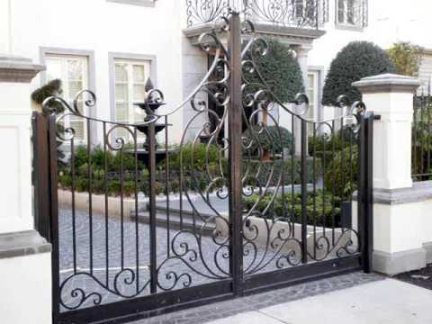 Gate Design Ideas window front gates had gained popularity these days these gates are simple gates that have windows slightly above the middle to view the person who is Wrought Iron Gate Design Ideas Wrought Iron Gates