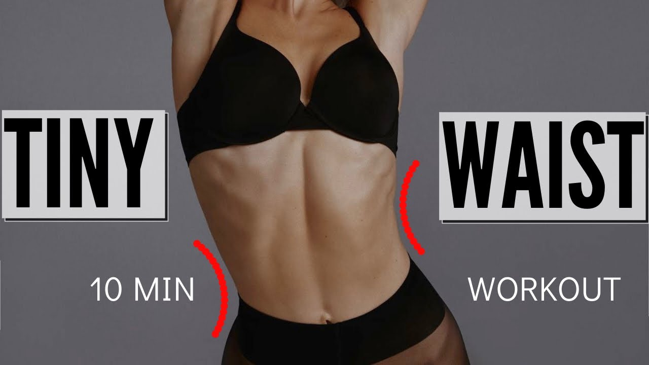 10 MIN. TINY WAIST WORKOUT - lose muffin top & love handles / No Equipment | Mary Braun