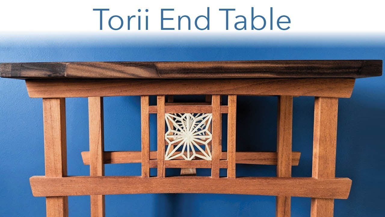 Torii End Table Japanese Woodworking Youtube