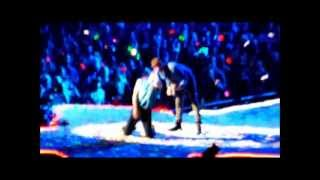 jay z and coldplay at barclays center in brooklyn new york new years 2013