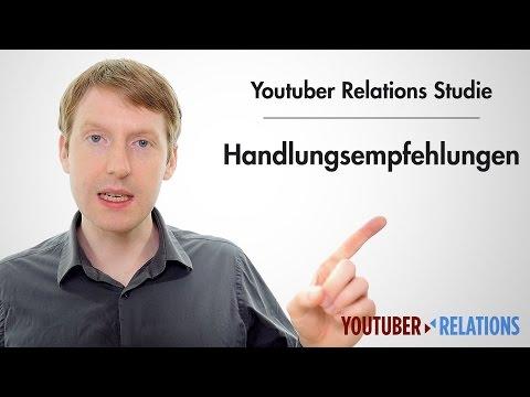 Youtuber Relations Studie - Teil 17: Handlungsempfehlungen