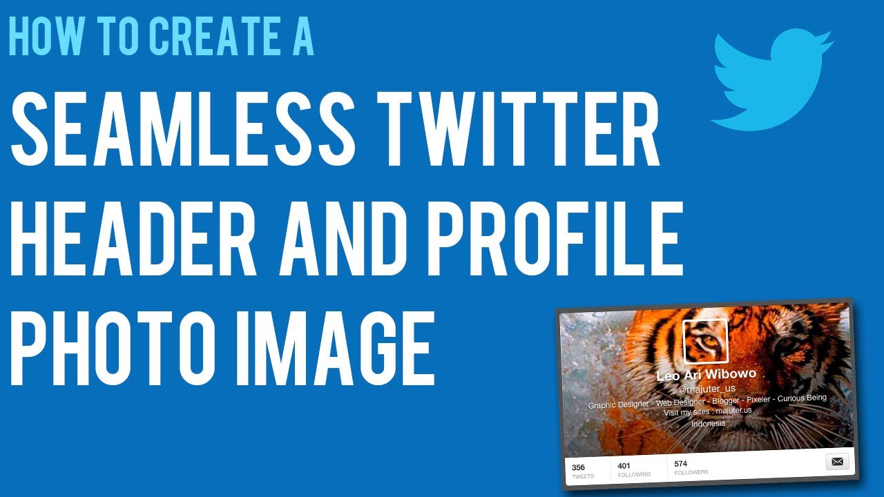 How to Make A Seamless Twitter Header Background and Profile