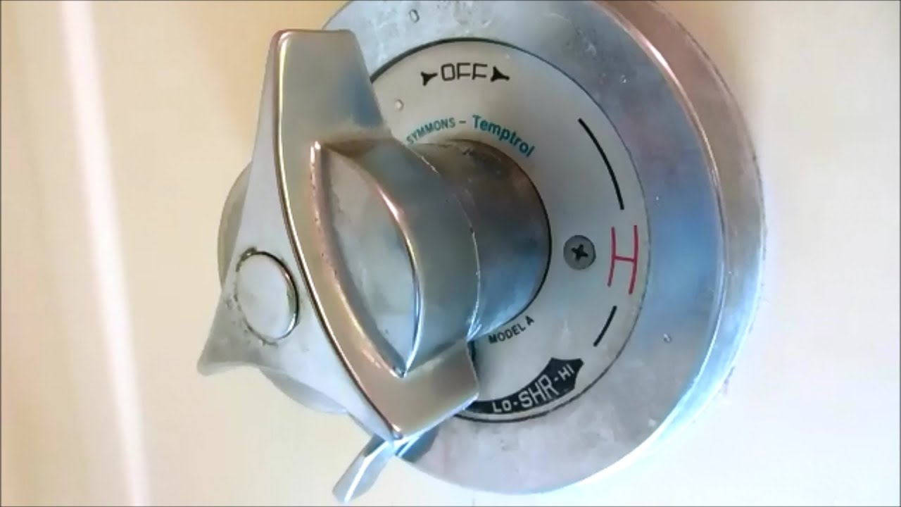 symmons tub@shower valve diverter spindle replaced - YouTube