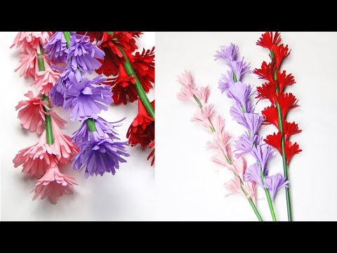 How to Make Beautiful Paper Stick Flowers | DIY Stick Flowers | Handmade Flowers For Decoration
