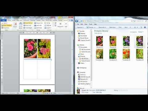 Drag and drop photos or images into word document.
