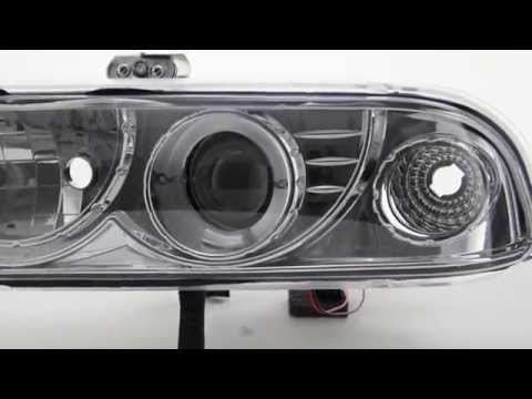 98-04 Chevy S10 and 98-05 Chevy Blazer LED Halo Projector Headlights thumbnail