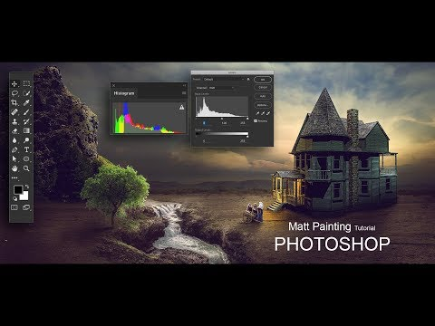 How To Create Matte Painting In Photoshop !! Old HOUSE !! Manipulation Effect