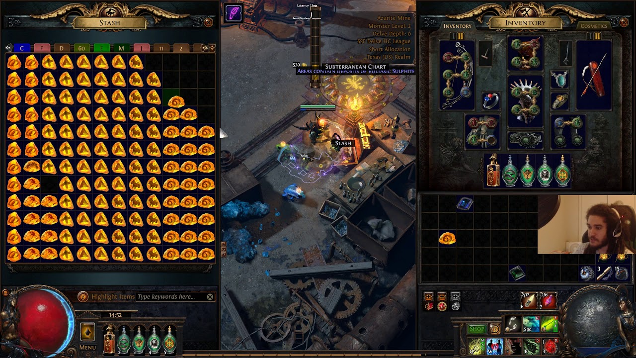 Path of Exile Delve - Fossil Crafting SSFHC