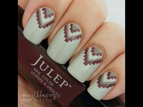 #ManiMondays #OOTD - Aztec Nail Art Lookbook (Nail Art Ideas) - YouTube