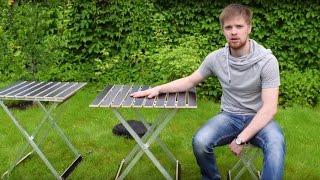 Раскладные столы и стулья «Alluwood». Обзор складной мебели
