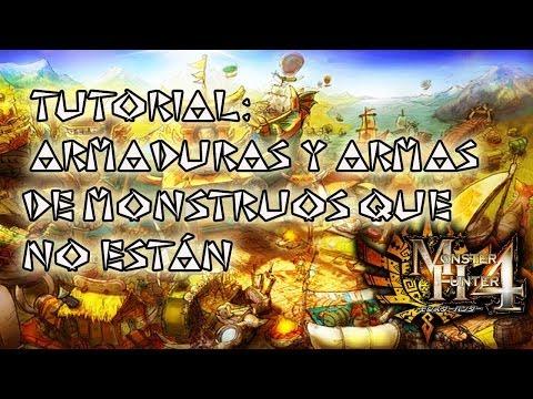 Monster Hunter 4 TUTORIAL: Obtención de armaduras de monstruos que no están en el juego - español