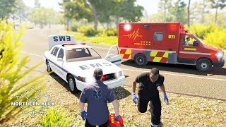 Flashing Lights | EMS Fast Response Car and New Ambulance| Early Access