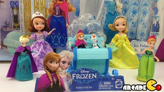 Disney Frozen Swirling Snow Sleigh with Princess Anna and Queen Elsa Magiclip Sofia The First