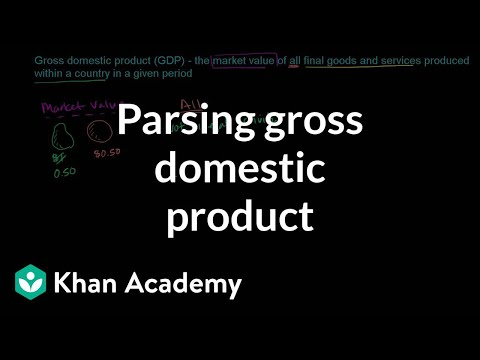 Parsing gross domestic product | GDP: Measuring national income | Macroeconomics | Khan Academy