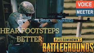 How To Hear Footsteps Better and Explosions In PUBG - Compressor Setup In VoiceMeeter EASY SETTINGS