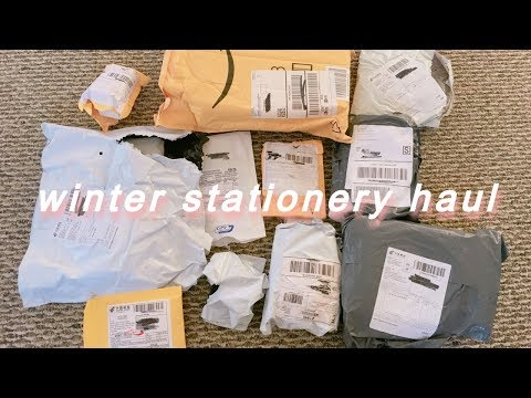 winter stationery haul | aliexpress + banggood + traveler&more