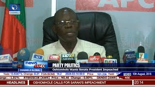 Saraki Will Definitely Be Impeached – Oshiomhole