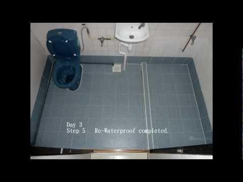 Re-waterproofing bath/toilet floor - Singapore HDB flat