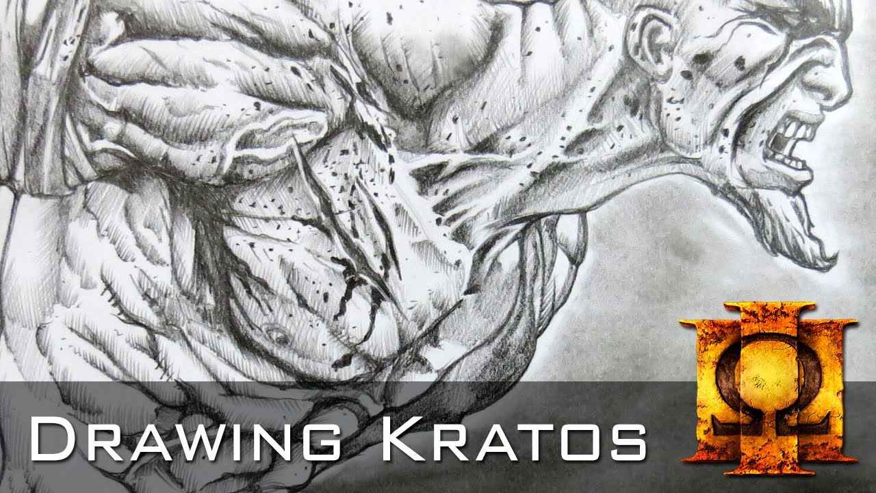 How to Draw Kratos God of War Comic Style  Time Lapse  YouTube