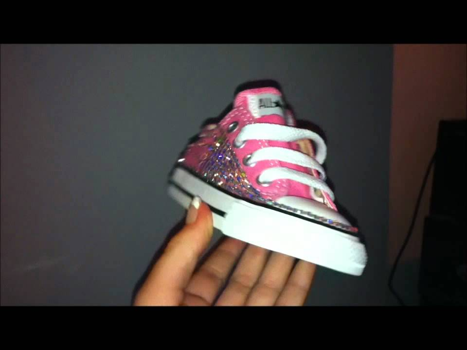 03f2ff253d70e4 EXCLUSIVE! Kids Crystalized converse. A MUST SEE! - YouTube
