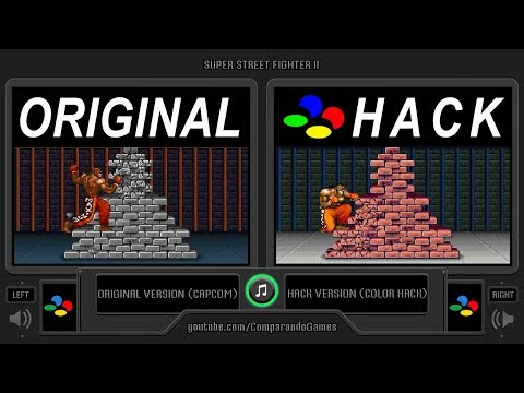 2 Super Street Fighter Ii Snes Vs Snes Original Vs Hack