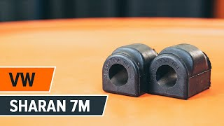How to replace Sway bar bushes on VW SHARAN (7M8, 7M9, 7M6) - video tutorial