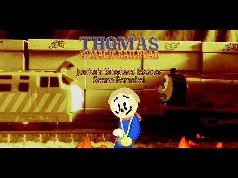 Thomas & The Magic Railroad | Junior's Smelters Escape Scene Remake! (Trackmaster, TOMY, Plarail)
