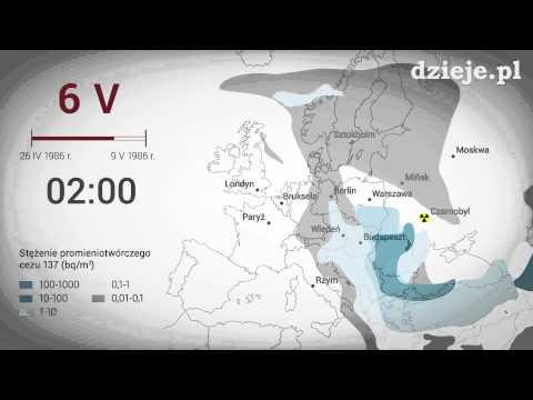 Symulacja przemieszczania się radioaktywnej chmury z nad Czarnobyla