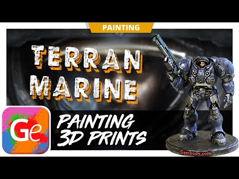 Painting Terran Space Marine 3D Model | Gambody