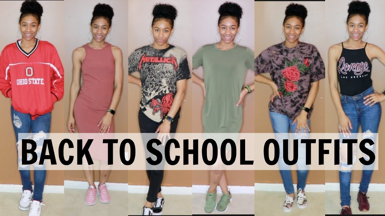 School Outfit Ideas With Sneakers
