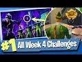 Fortnite WEEK 4 CHALLENGES Guide + Free Battle Pass Tier - Fortnite Battle Royale