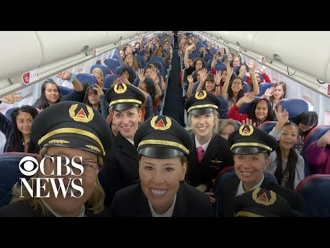 Meag Taylor - All-Female Flight Crew Takes 120 Girls To NASA