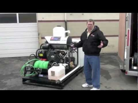Sewer Drain Line Hydro Jetters Trailer Mounted Youtube