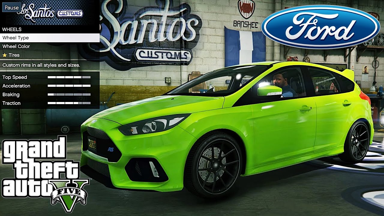 ford focus rs gta v car mod tuning soley911 youtube. Black Bedroom Furniture Sets. Home Design Ideas