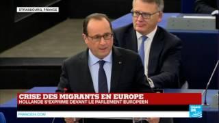 REPLAY - Discours de François Hollande et Angela Merkel devant le parlement européen