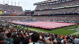 9 11 tribute and flyover at the eagles game