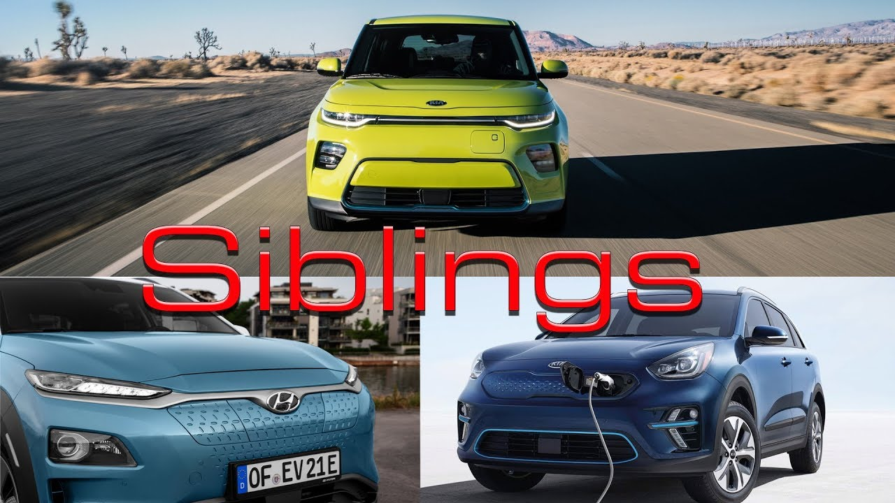2020 Kia Soul Ev Vs Niro Hyundai Kona Electric Same Car Diffe Clothes