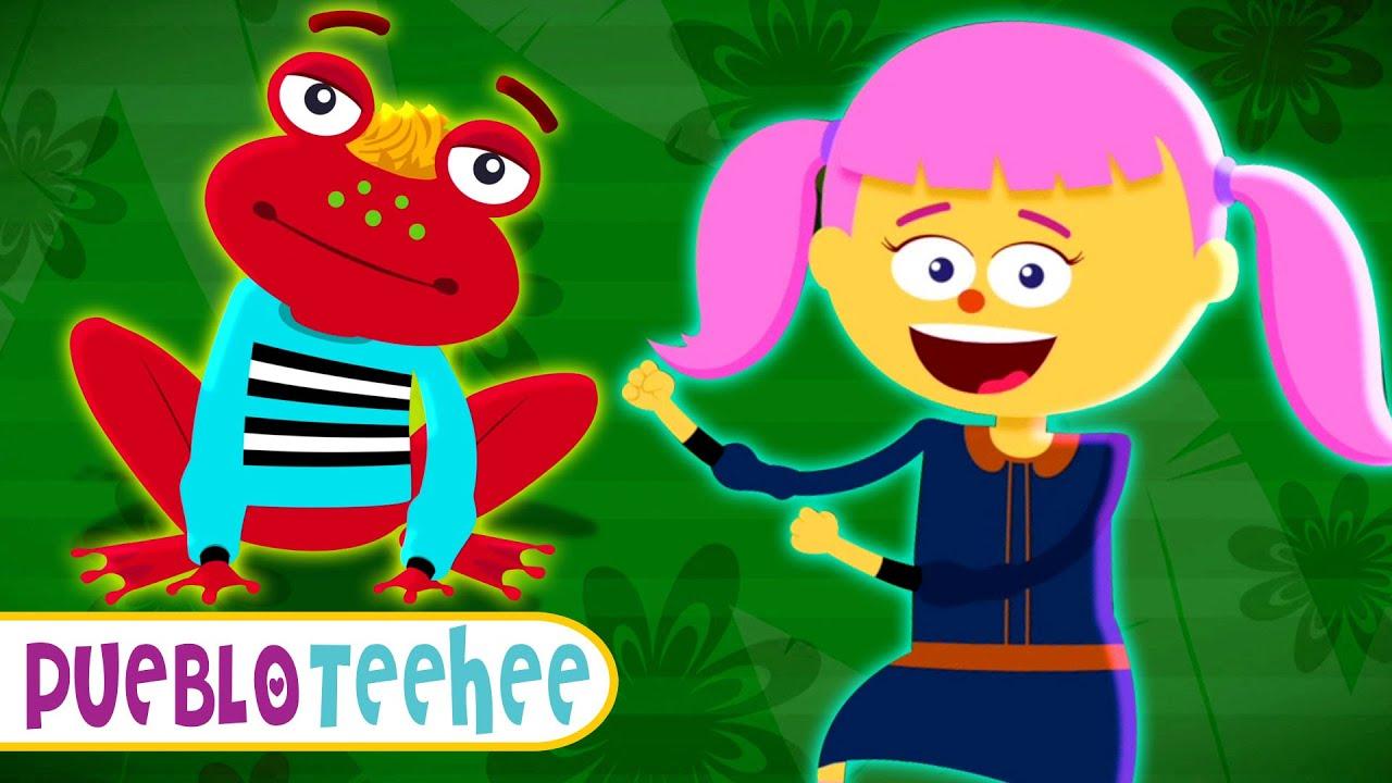 ¡Cómo los animales! - Canciones infantiles animadas con Len y Mini | Pueblo Teehee